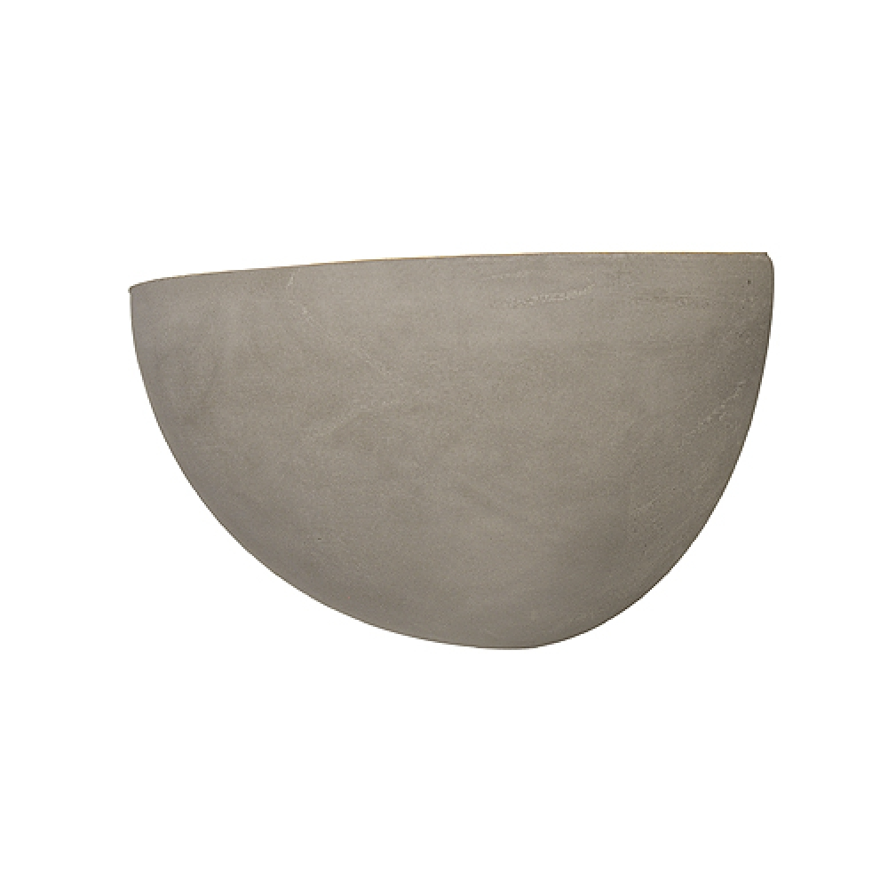 Cupped Concrete Wall Light